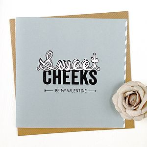 Personalised Sweet Cheeks Valentines Card