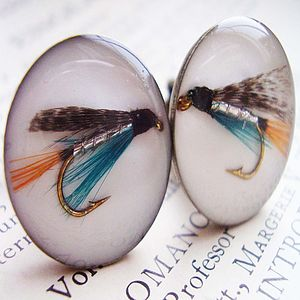 Fishing Fly Cufflinks - men's jewellery sale