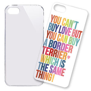 Phone Case, Border Terrier Love - phone & tablet covers & cases