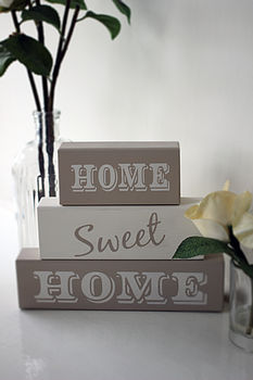 'Home Sweet Home' Shelf Block Letters