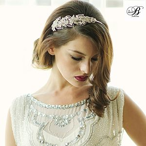 Nancy Crystal And Pearl Headband - women's accessories