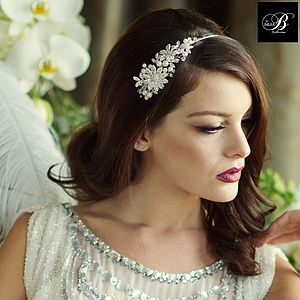 Scarlett Crystal Bridal Headband - head pieces