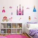 Princess Set Fabric Wall Stickers