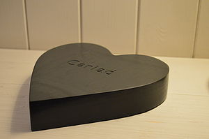 Chunky Engraved Slate Heart - decorative accessories