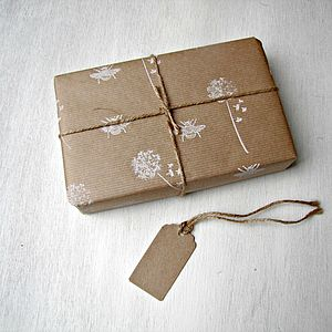 Dandelions Hand Printed Wrapping Paper - shop by category