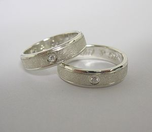 Slim Diamond Set Band - wedding rings