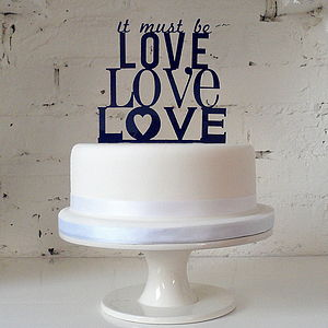 'It Must Be Love' Cake Topper - cake decorations & toppers
