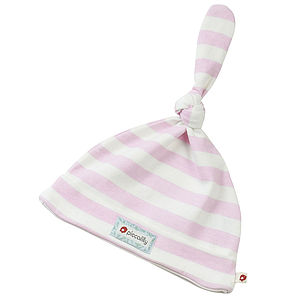 Girls Stripe Knot Hat