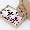 Personalised 'I Love You…' Message Jigsaw Puzzle
