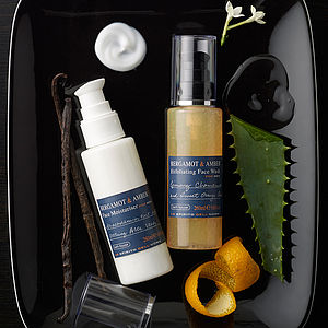 Men's Bergamot And Amber Skincare Gift Box