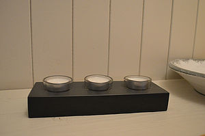 Slate Tealight Holder - lights & candles