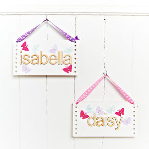 Girls Name Plaque