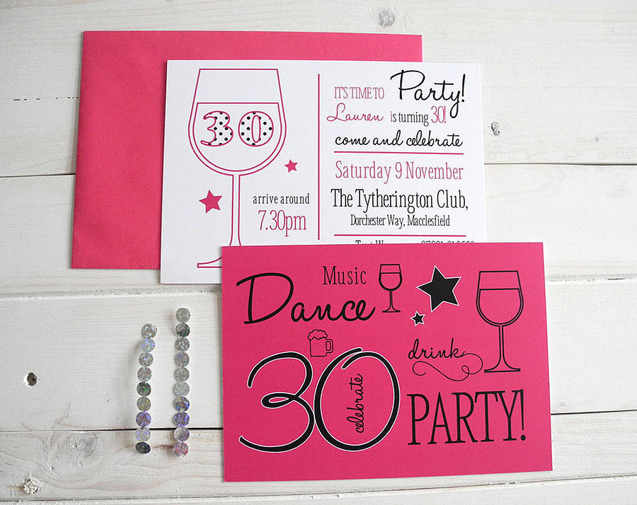 50 party invitation postcards by sweet words stationery ...