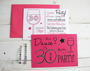 50 Party Invitation Postcards - home