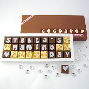 Personalised Chocolates For Celebrations - food & drink gifts