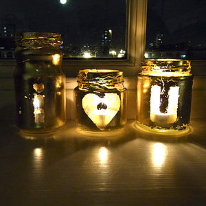 'I Heart U' Tea Light Holders - lights & candles