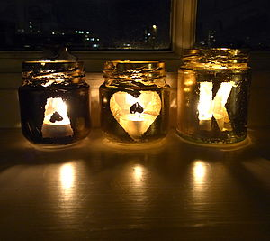 Personalised Love Tea Light Holders - candles & lights