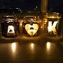 Personalised Love Tea Light Holders