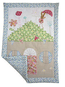 Rabbit Patchwork Cot Quilt