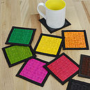 Handwoven Colourful Square Coaster Set