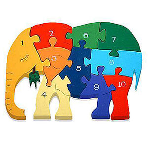 Number Elephant Jigsaw Puzzle - board games & puzzles