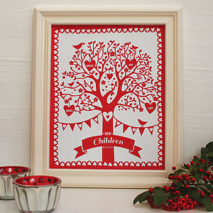 Personalised Children Framed Family Tree - posters & prints for children