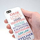 Personalised Typographic Phone Or iPad Cover