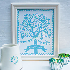 Personalised Grandchildren Family Tree Print - home accessories