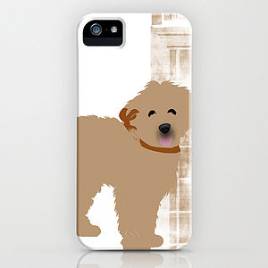 Brown Labradoodle Dog On iPhone Case - phone covers & cases