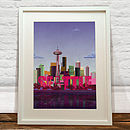 Print Of Seattle Skyline