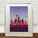 Print Of Seattle Skyline