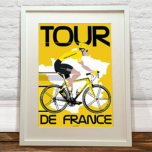 A2 Tour De France Art Print - oversized art