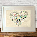 I Love My Bike Print