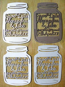 Personalised Laser Cut Save The Date