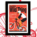 wild thing mountain bike print red mist