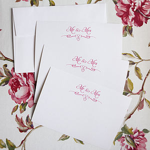 Set Of 15 Juillet 'Mr And Mrs' Notelet Cards - wedding cards & wrap