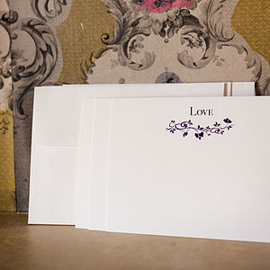 Set Of 15 Octobre 'Love' Correspondence Cards