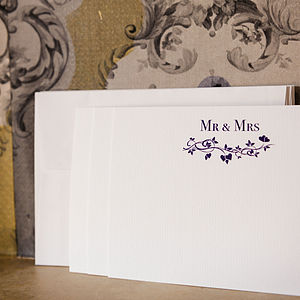 Set Of 15 Octobre 'Mr And Mrs' Cards - wedding cards & wrap