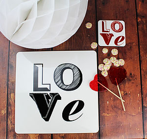 Love Font Placemat - view all sale items