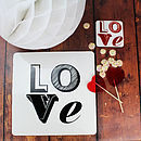 Love Font Placemat