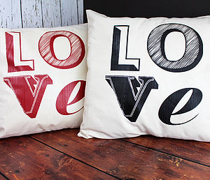 Love Font Cushion - patterned cushions