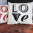Love Font Cushion