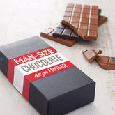 Personalised 'Man Size' Chocolate Gift Box - christmas