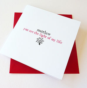 'The Light Of My Life' Personalised Card