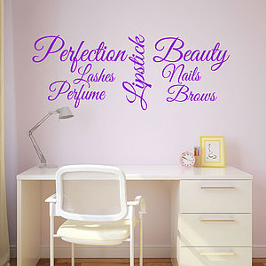 Beauty Words Wall Sticker - view all sale items