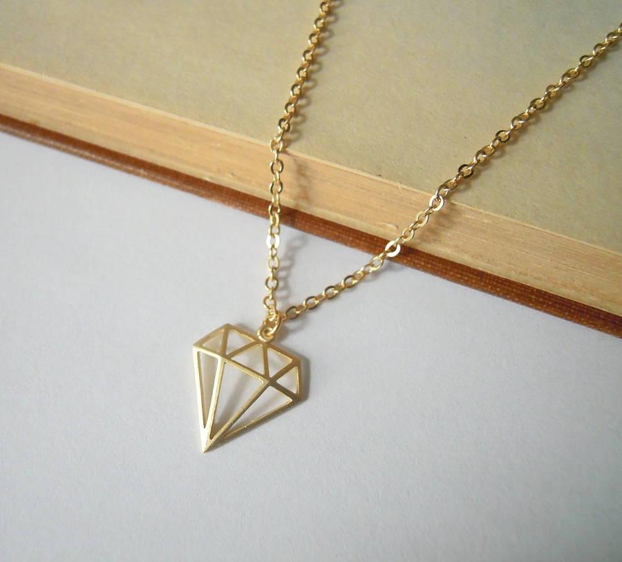 Geometric Diamond Necklace By La Belle Et La Bete