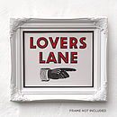 Lovers Lane Letterpress Print