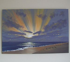 Sunburst Painting On Canvas - home accessories