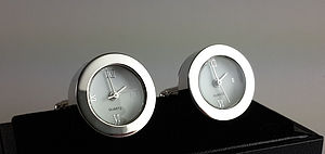 Functioning Quartz Clock Cufflinks
