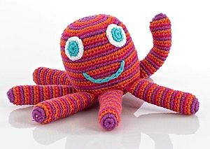 Handmade Crochet Octopus Rattle